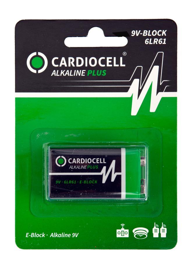 Cardiocell Plus 9V Block Batterie
