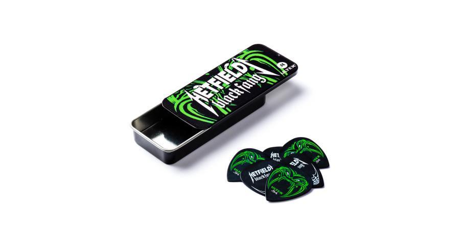 Dunlop Ultex Hetfields Black Fang Pick Tin 6 Picks black 0.94 mm