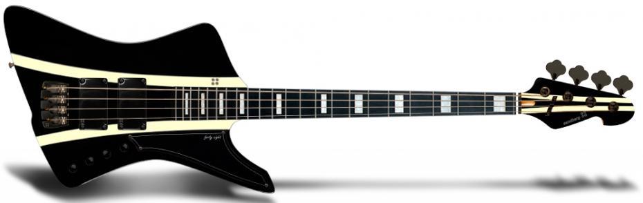 Sandberg Forty Eight Black Highgloss with Creme Stripes  B-Stock