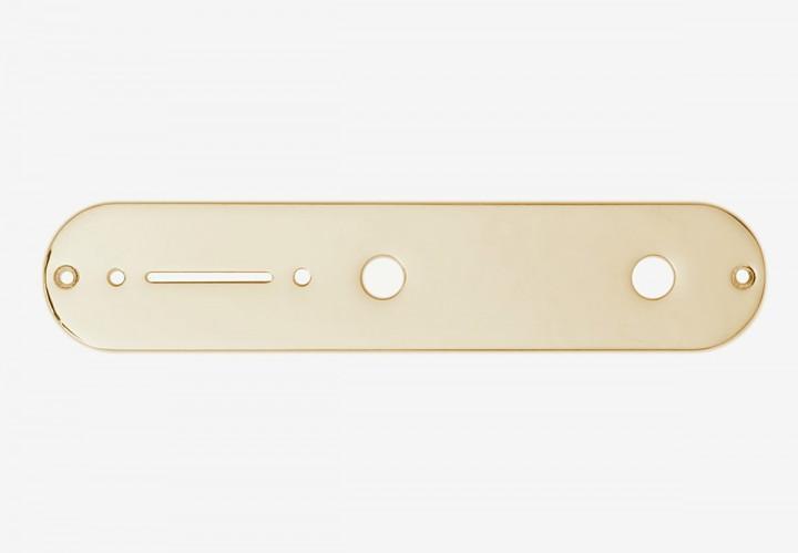 Control Plate Tele gold