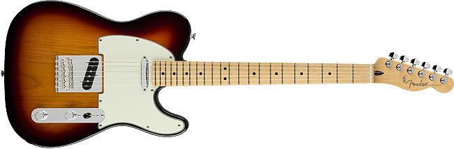 Fender Player Telecaster, Maple Fingerboard, 3-Color Sunburst