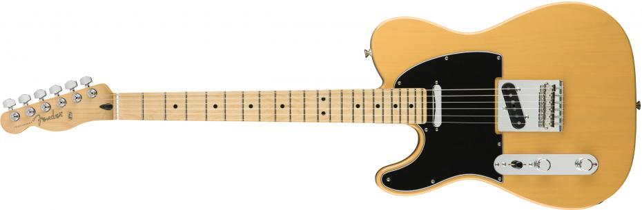 Fender Player Telecaster Lefthand,Maple Fingerboard, Butterscotch Blonde