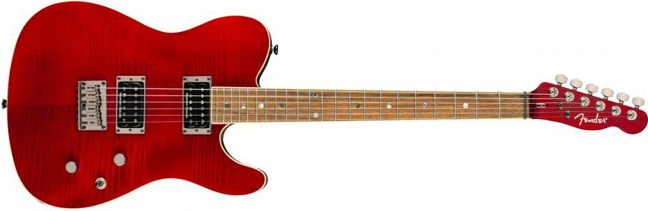 Fender Special Edition Custom Telecaster® FMT HH, Laurel Fingerboard, Crimson Red Transparent