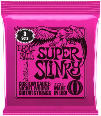 Ernie Ball 3223 Super Slinky 09-42 3er Pack