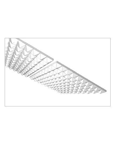 Pinta Acoustic Pyramide 100mm weiß 1200x600x100mm