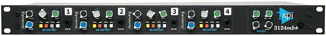 API 3124 MB+ 4-fach MicPreamp/Mixer