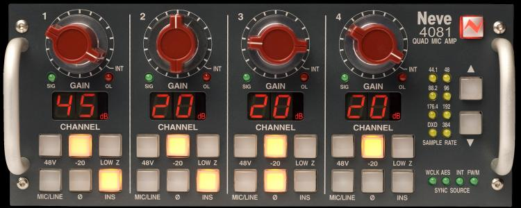 Neve 4081 4 Channel Remote Mic-Preamp