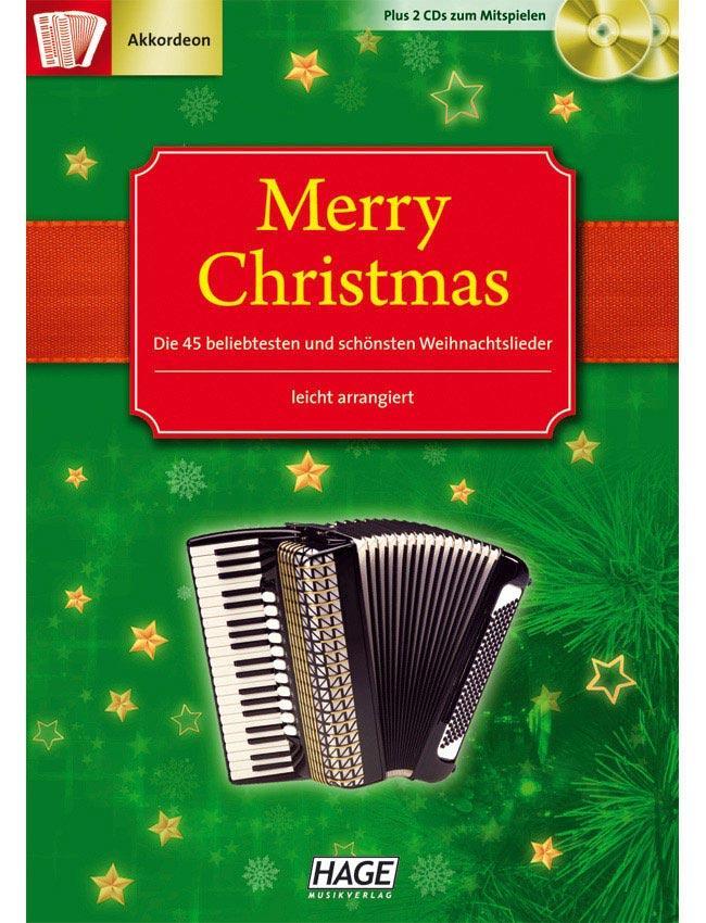 Merry Christmas für Akkordeon m. 2 CD HAGE