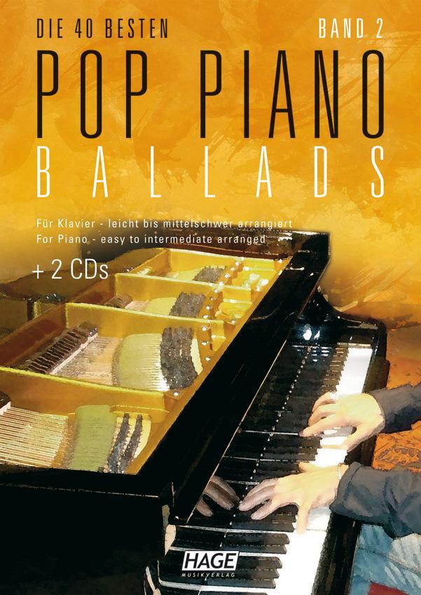 Pop-Piano-Ballads-2 mit 2x CD  HAGE