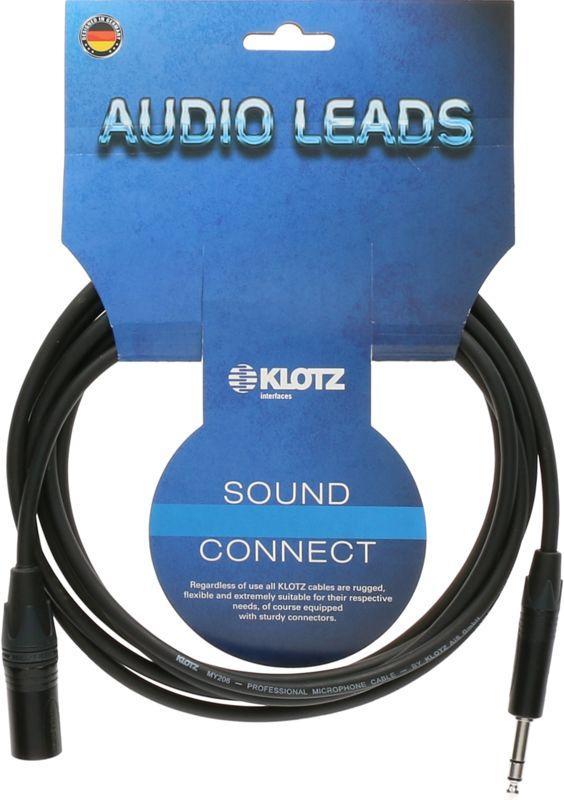 Klotz Cables 1x XLR male - 1x symmetrische Klinke 6,3mm 10m