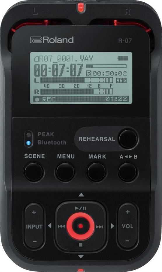 Roland R-07 B High Resolution Audio Recorder