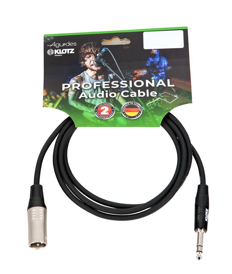 Agurdes Cables 1xXLR male-1x symmetrische Klinke 6,3mm 10m