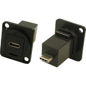 USB-C Durchführung  D-Type Schwarz