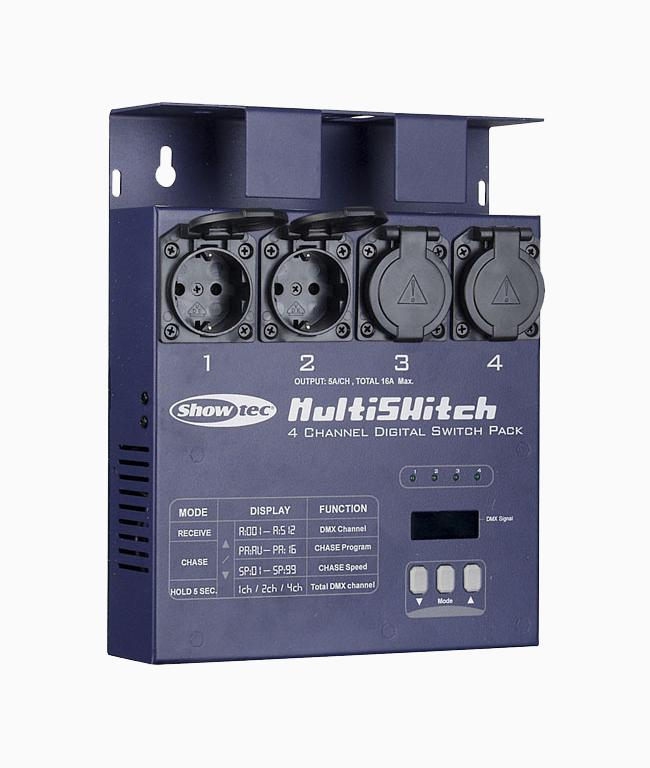 Showtec DSP-405 DMX Multiswitch Miniswitcher 4*5A