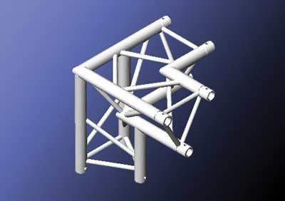 Mobiltruss Trio-290 90 Grad 3-fach-Ecke Links