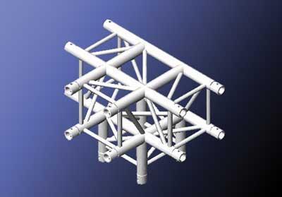 Mobiltruss Quatro-290 Mittelstück mit 4 Abgängen