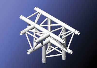 Mobiltruss Trio-290 90 Grad X-Stück