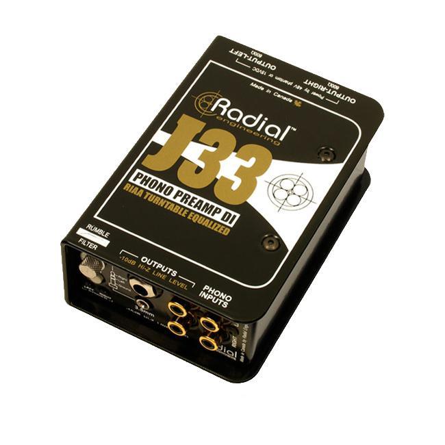 Radial J-33 Phono-Preamp, aktive DI-Box