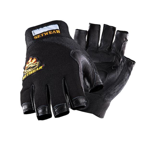 Setwear Fingerless-Leather Handschuh Größe: L