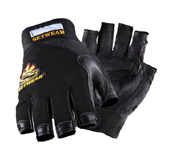Setwear Fingerless-Leather Handschuh Größe: XL