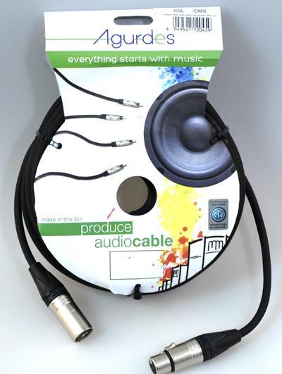 Agurdes DMX Kabel, 5-pol, 15m
