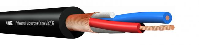 KLOTZ MY-206 symm.Kabel schwarz 100m