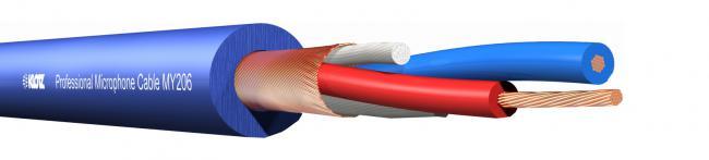 KLOTZ MY-206 symm. Kabel blau 100m