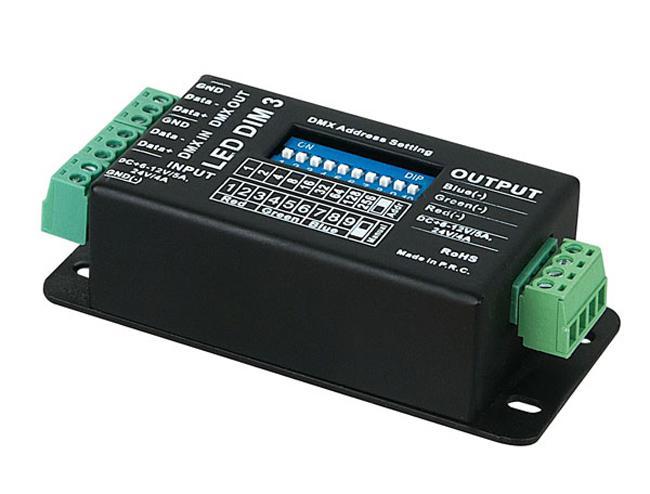 Showtec LED-Dim3 MKII 3 Kanal DMX LED Dimmer, 12V-24V