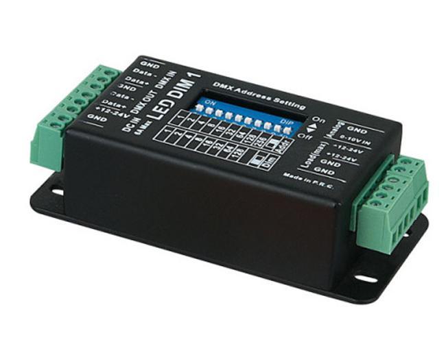 Showtec LED-Dim1 MK2 1 Kanal DMX LED Dimmer, 12/24V, 6/4A
