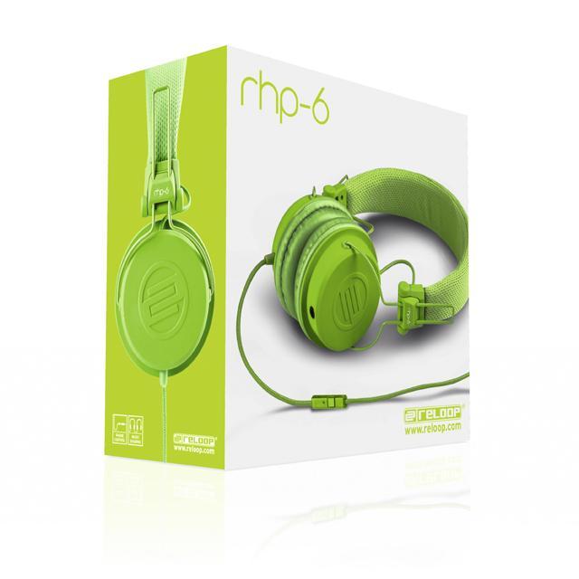 Reloop RHP-6 DJ-Headphone green