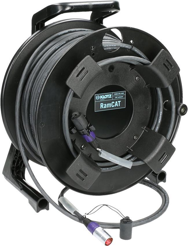 Klotz CAT-5 Kabel Trommel Ethercon 75m