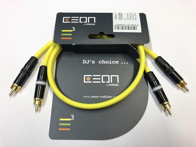 Cordial Ceon Ci2-Ci2 0,6m yellow