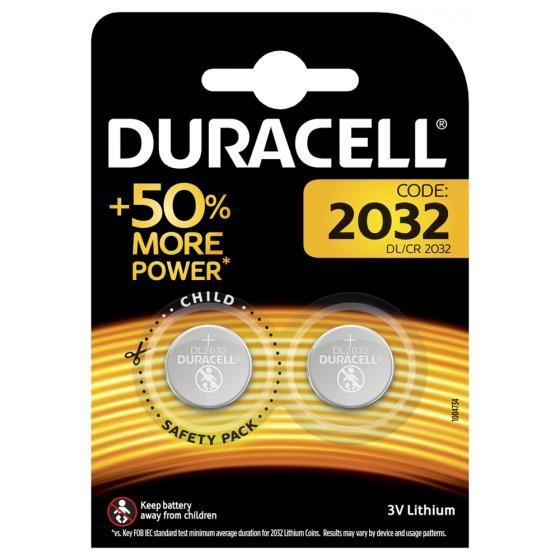 Duracell DL2032 3V Knopfbatterie 2er-Blister